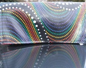 Waterproof Coupon Organizer Holder Rainbow Dots Fabric