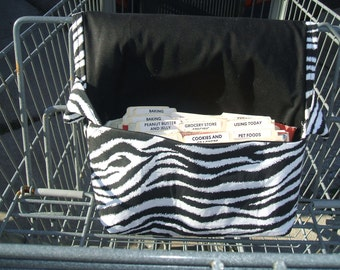 Coupon Holder Mega Large Zebra Fabric