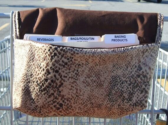 Fabric Coupon Organizer Snakeskin Suedecloth
