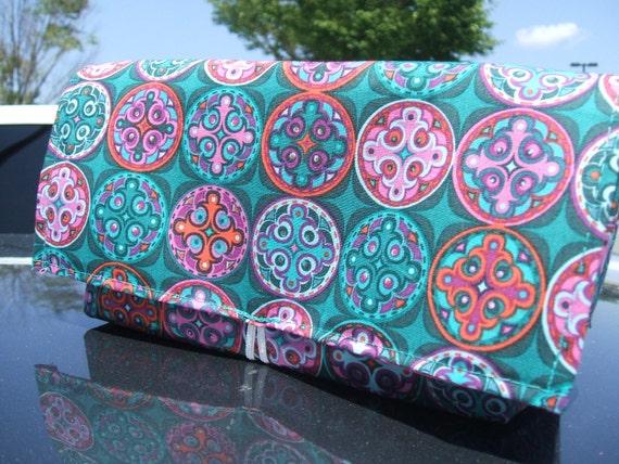Coupon Organizer Purse Receipt Holder Jeweled Mediallians Fabric