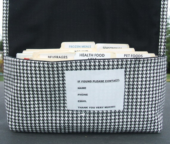 Coupon Organizer, Coupon Holder, Coupon Bag, Coupon Binder, Receipt Holder, Houndstooth Fabric