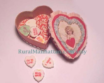 Valentine Heart Candy Container Cupid Candy Box Bonbon Vanentines Day Cupid Angel Heart Pink Red Heart Box Forget Me Not