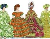 Magnetic Paper Dolls Vegetables Garden Historic Fashion Vegetable Art