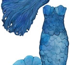 Mermaid Magnetic Paper Dolls