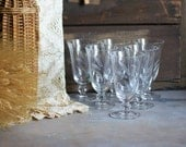 Rosenthal Crystal Goblets with Etched Wheat Design