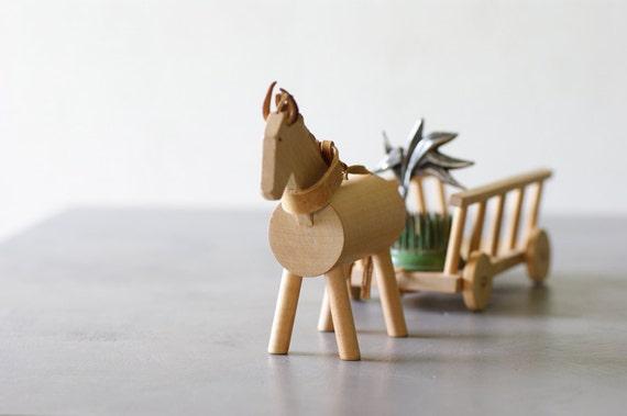 Horse &  Wagon Toy from Czechoslovakia