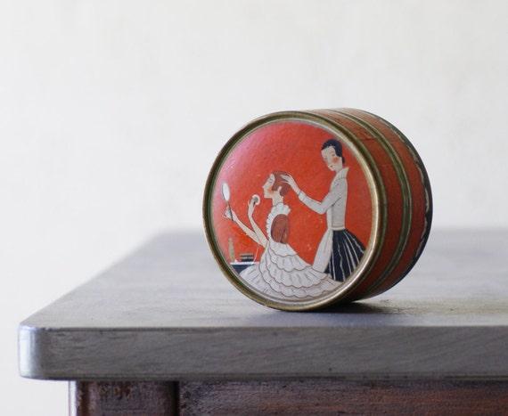 Art Deco Face Powder Box by Richard Hudnut