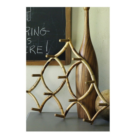Rattan Peg  Rack made from Bamboo