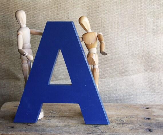 Blue A Signage