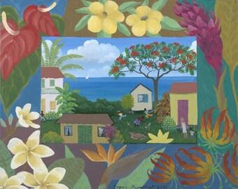 Caribbean Floral print