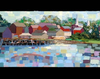 Riverveiw of Damariscotta giclee print