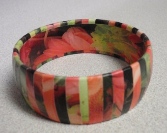 Decoupage Bangle Bracelet