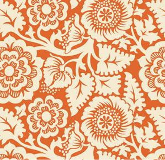 Fall Laminated Cotton, Heirloom Amber Blockprint