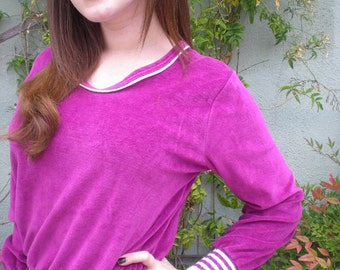 Vintage Plum Sweater. V-Neck S/M