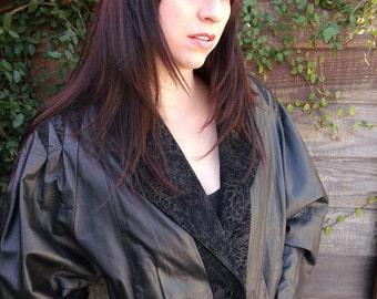 Black Leather Jacket L, V take New Wave Lwater Jacket, Break Dancing Jacket