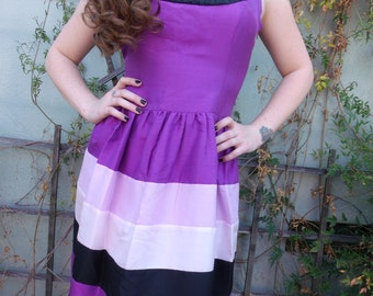 Kensie Dress NEW with Tags. Size L. Purple 60's Inspired Cocktail Dress Prom Dress 100% SILK