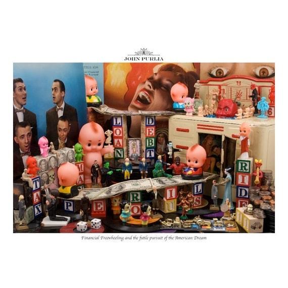 Financial Freewheeling — 11x11 Album Edition surreal photograph by John Purlia