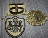Miltary patches, Vintage, Eagle Crest, Hawaii USARPAC patch, Supplies, Burning Man, Steampunk