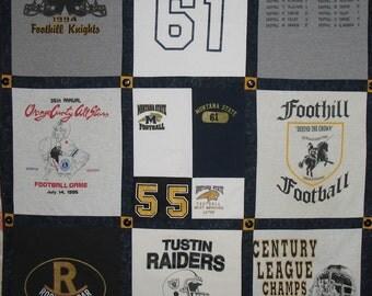 T-Shirt Quilt - 20 squares