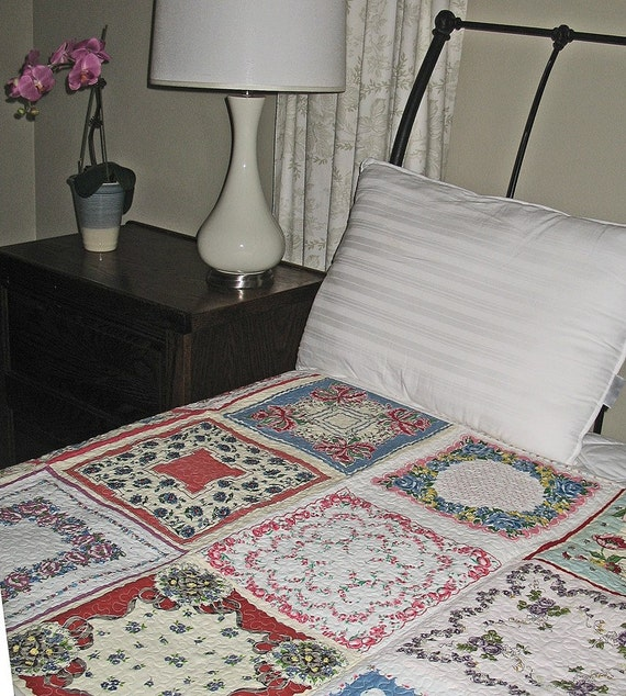 Very Vintage Handkerchief Quilt-FOR SALE NOW