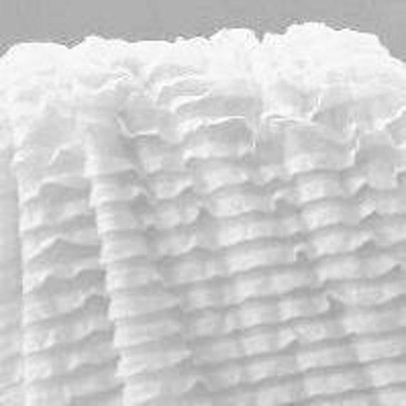 Custom Order White Cascading Ruffle Fabric - 5 yards