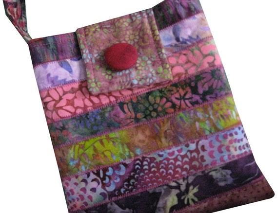 Batik Purse in Pink and Purple - Cross Body