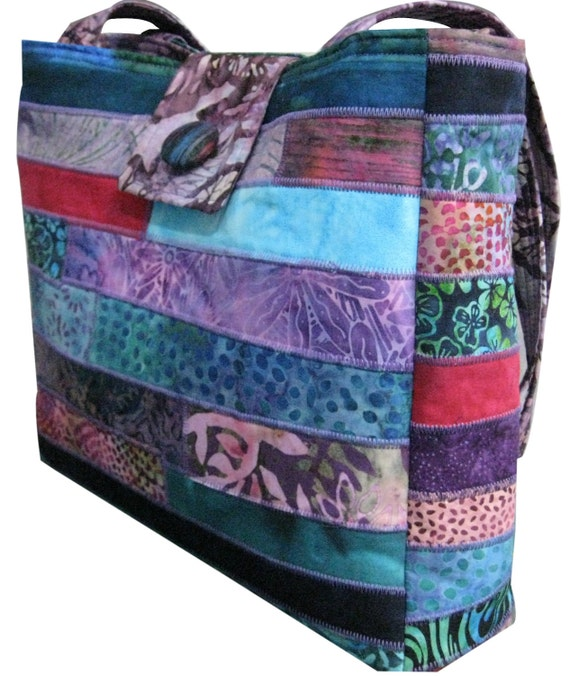 Batik Purse in Jewel Tones