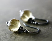 Starlight Silver Drop Earrings Lemon Quartz Dangle PoleStar