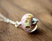 Cotton Candy Caramel Necklace Silver Pendant