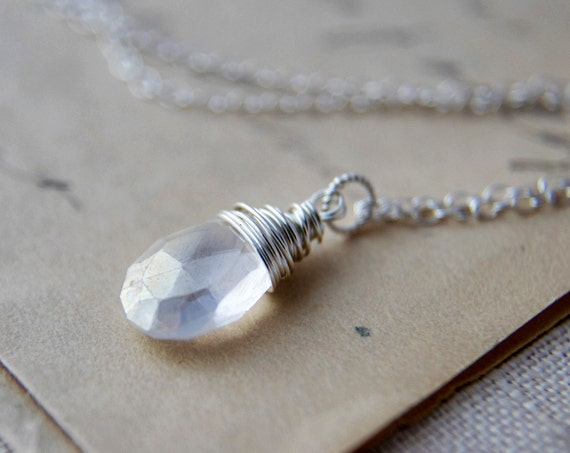 Angelic Necklace White Quartz  Silver