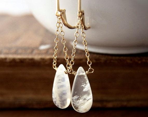 Moonstone Jewelry Gold Earrings Gemstone Jewelry Spring Fashion