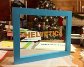 Reserved for percussivebunny: Custom Cyan frame for glass print