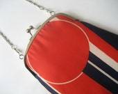 Handbag made with vintage scarf