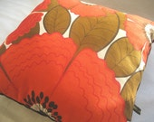 Vintage 1960s fabric cushion