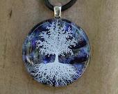Night SkiesTree Of Life Fused Glass Pendant