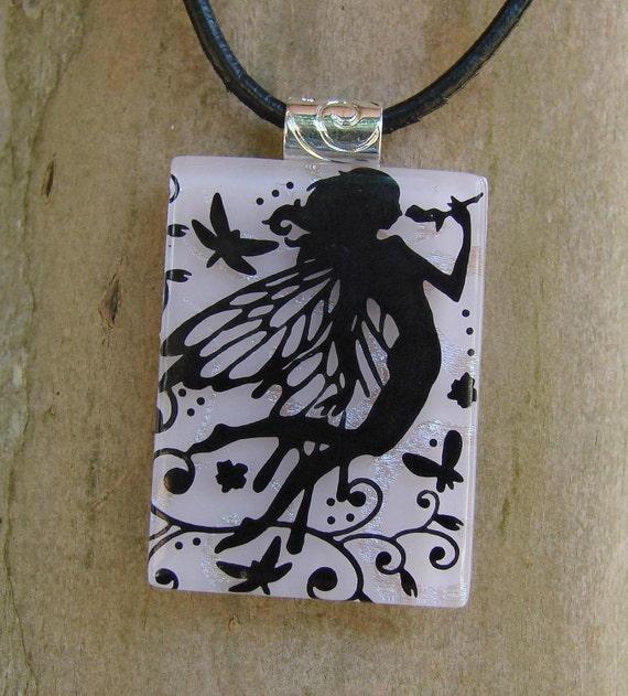 Fairy Queen Fused Glass Pendant