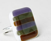 Fused Glass Cocktail Ring - Boyfriend Sweater