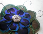 Sophia, Peacock Fascinator, Made to Order