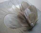 Bridal Feather Hair Clip - Made to order