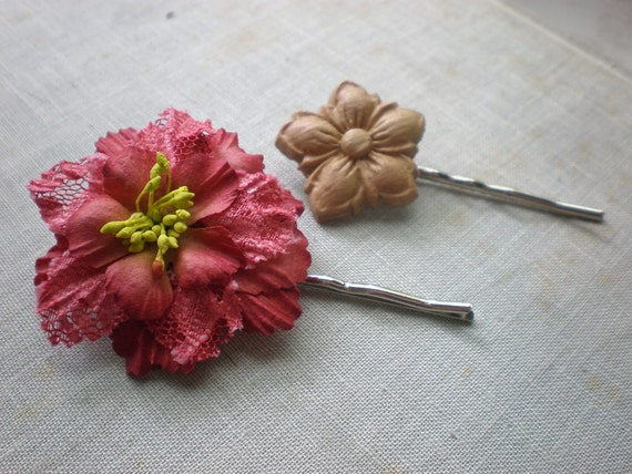 Flower Bobby Pin Set -- Inventory Clearance Sale