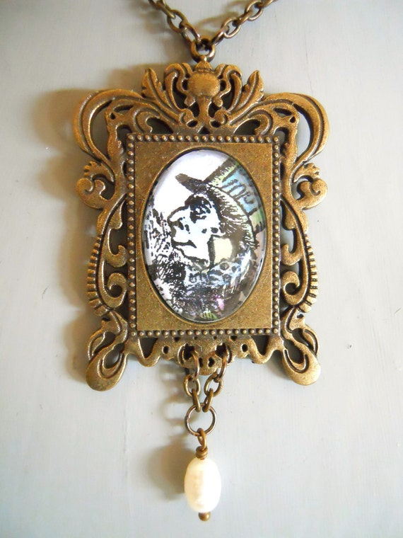 mad hatter necklace tea jewelry in