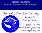 RESERVED for Angel Z Avery- Custom Business Card and Banner with Logo.