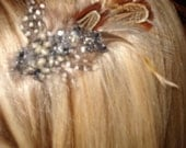 Bella Fleur Clip with Vintage Elements- for Hair or Clothing- Use alone or with Bella Fleur Convertible Headbands