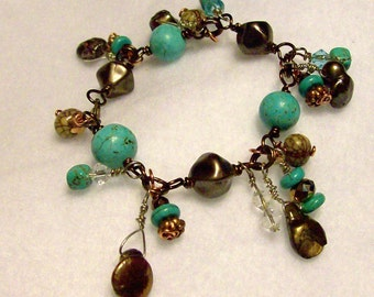 Turquoise and Cocoa bracelet