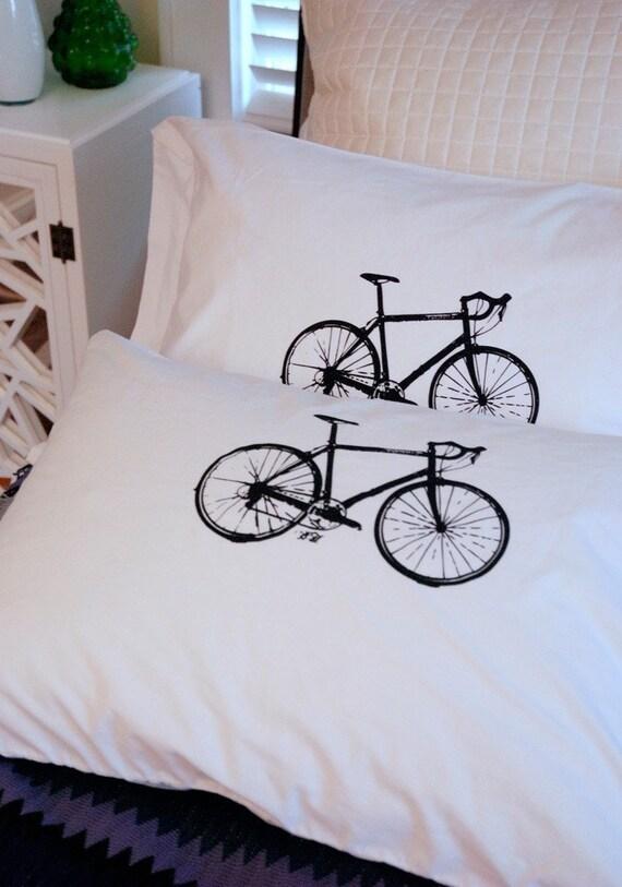 10 Speed Pillowcase Pair Standard Black on White