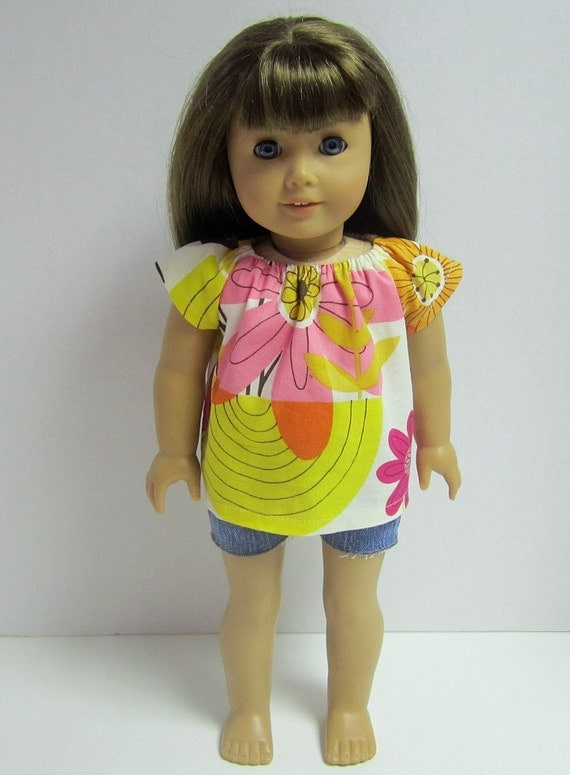 American Girl 18inch Doll Peasant Top by Crazy For Hue