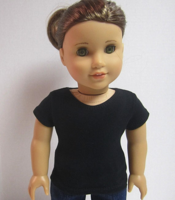 American Girl 18 inch Doll Fitted T-Shirt in Black by Crazy For Hue