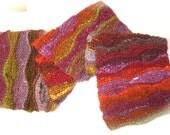 Archaeology Ripple Scarf (Purple, Orange, Green, Gold)