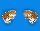 Indie the ginger - kitty earrings