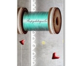 100 custom business cards - Needle spool Sewing Notions tailor